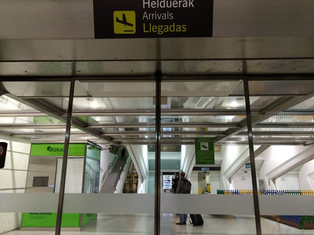 LLegadas aeropuerto de Bilbao