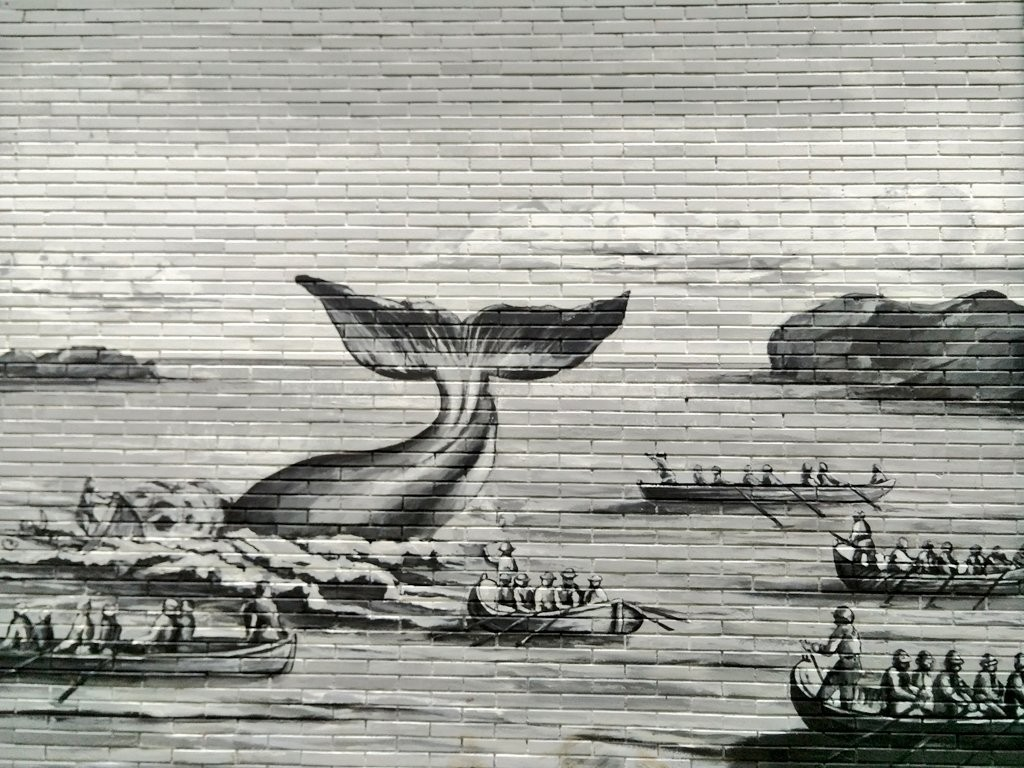 Pesca de ballena, Bermeo, mural