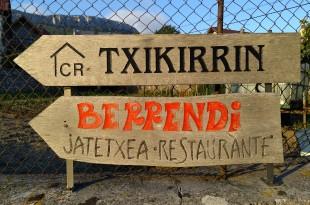 Señal Casa rural Txikirrin, Hiriberri, Aezkoa
