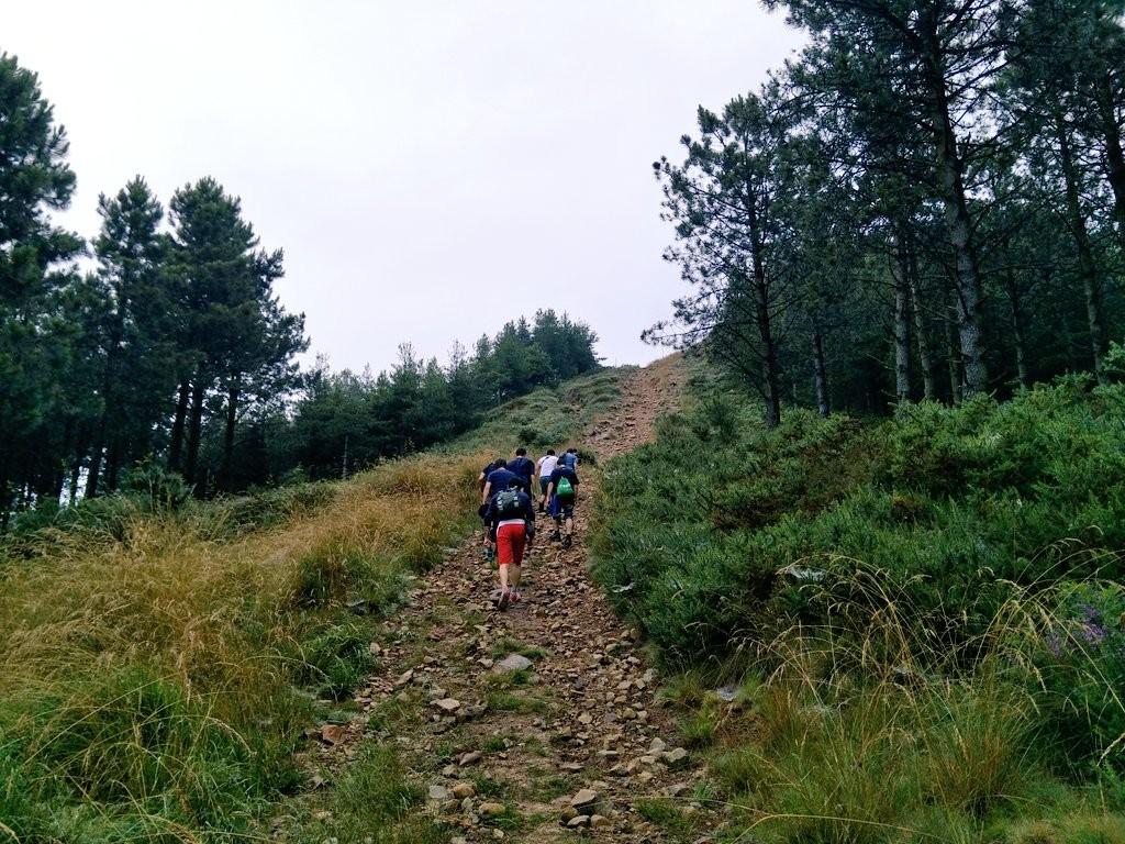 Subida monte Burgoa, ruta Bermeo San Juan de Gaztelugatxe