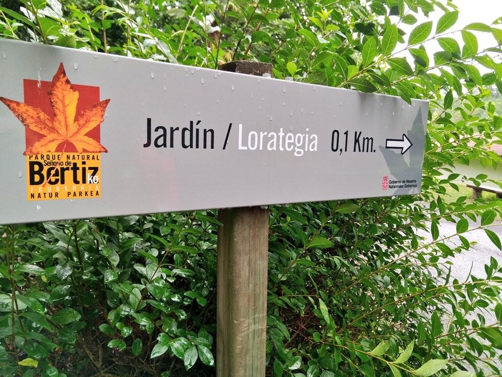 Señal del Jardín del Parque Natural del señorio de Bertiz
