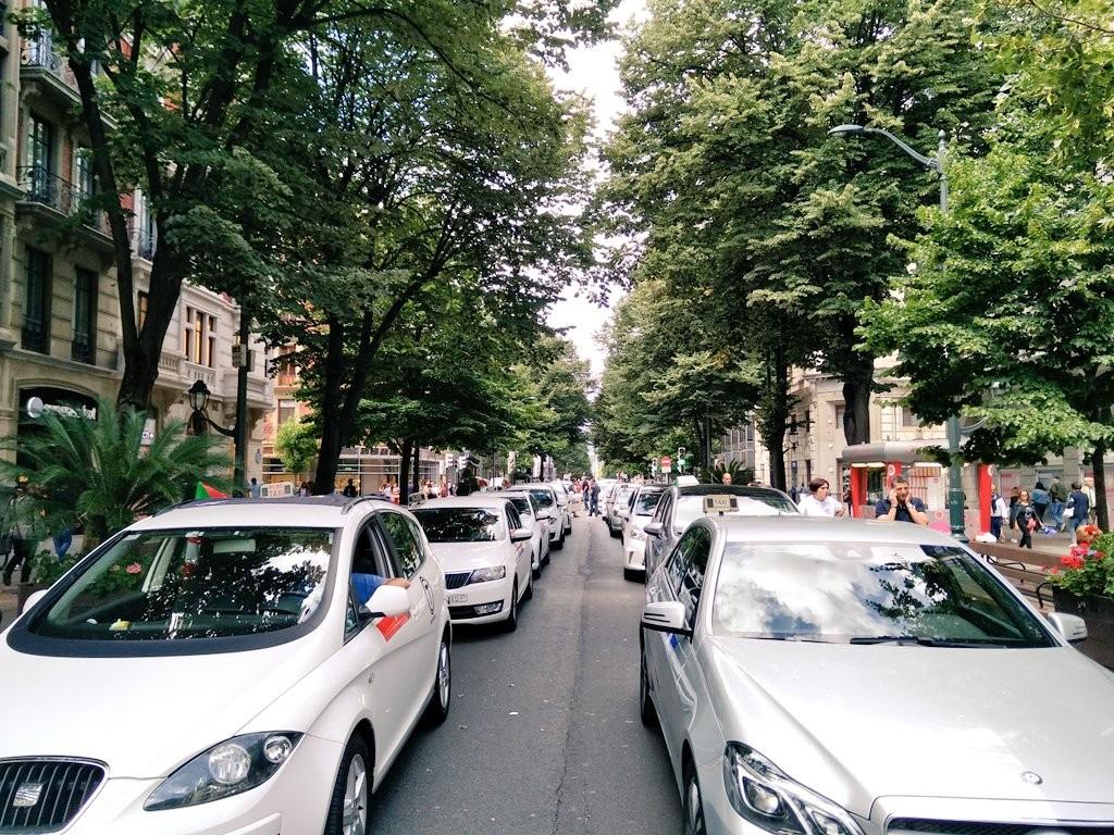 Taxis en Bilbao, manifestación