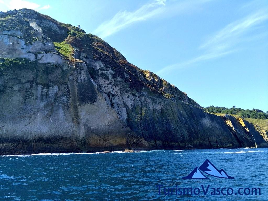 Faro de la plata desde el mar