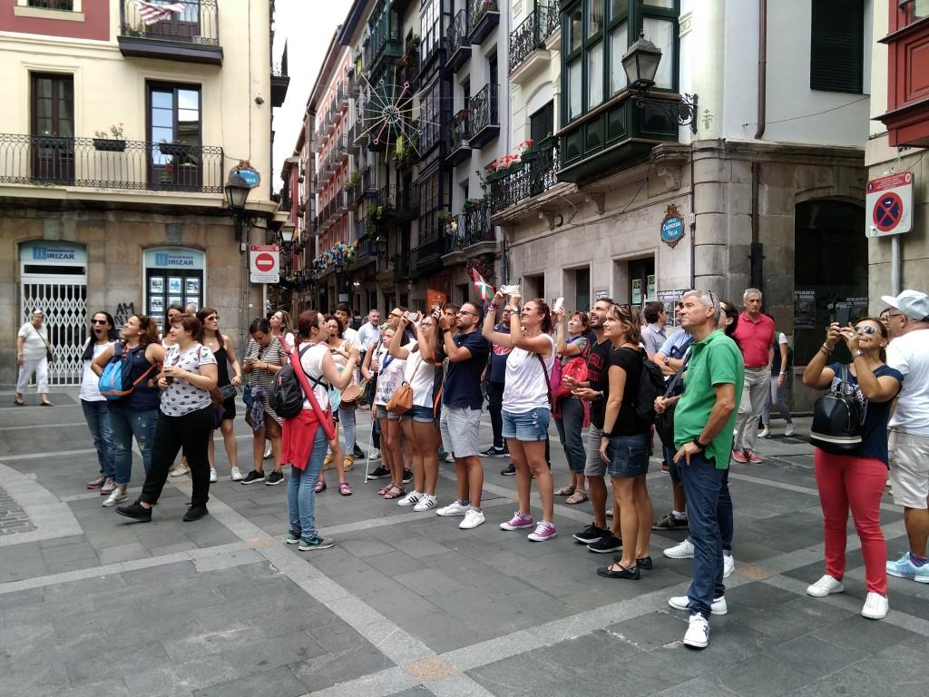 Grupo de turistas Casco Viejo