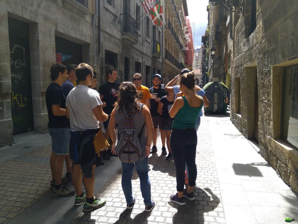 Grupo visita guiada Casco Viejo Bilbao