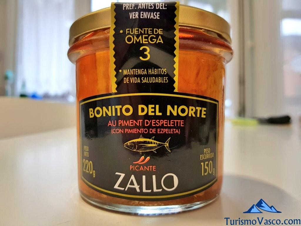 Zallo, bonito con pimiento de Ezpeleta