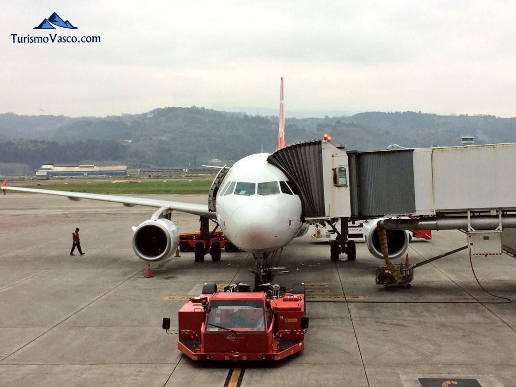 Aeropuerto de Bilbao, avion