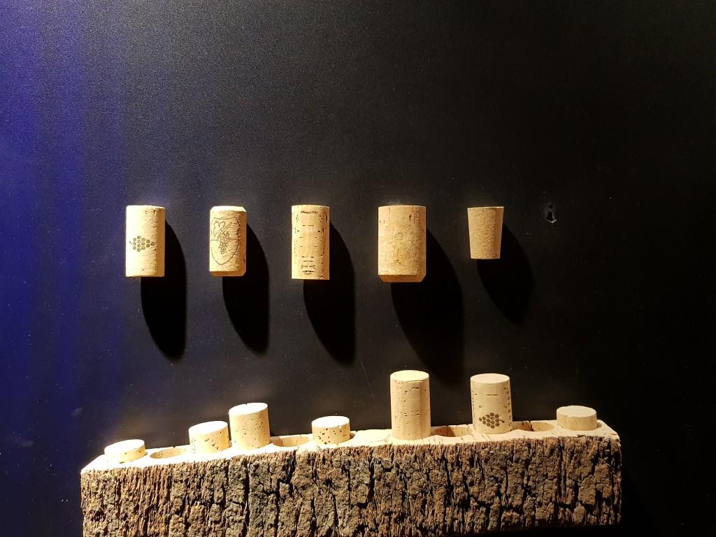 Corchos en el Museo de la viña y el vino de Navarra
