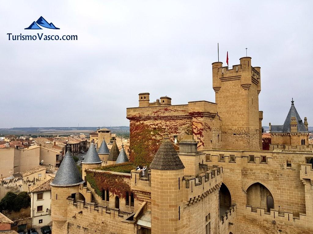 Palacio Real de Olite Erriberri desde una de sus torres