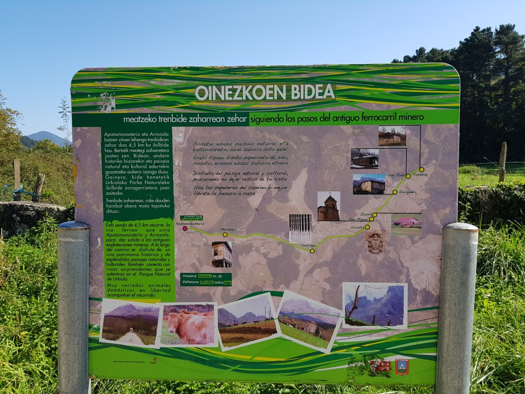 Panel de la ruta via verde de Arrazola