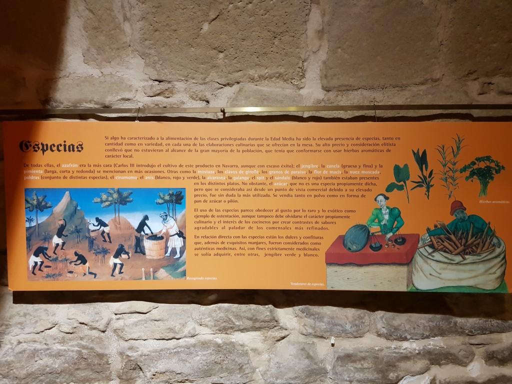 Panel informativo de las galerias subterraneas de Olite