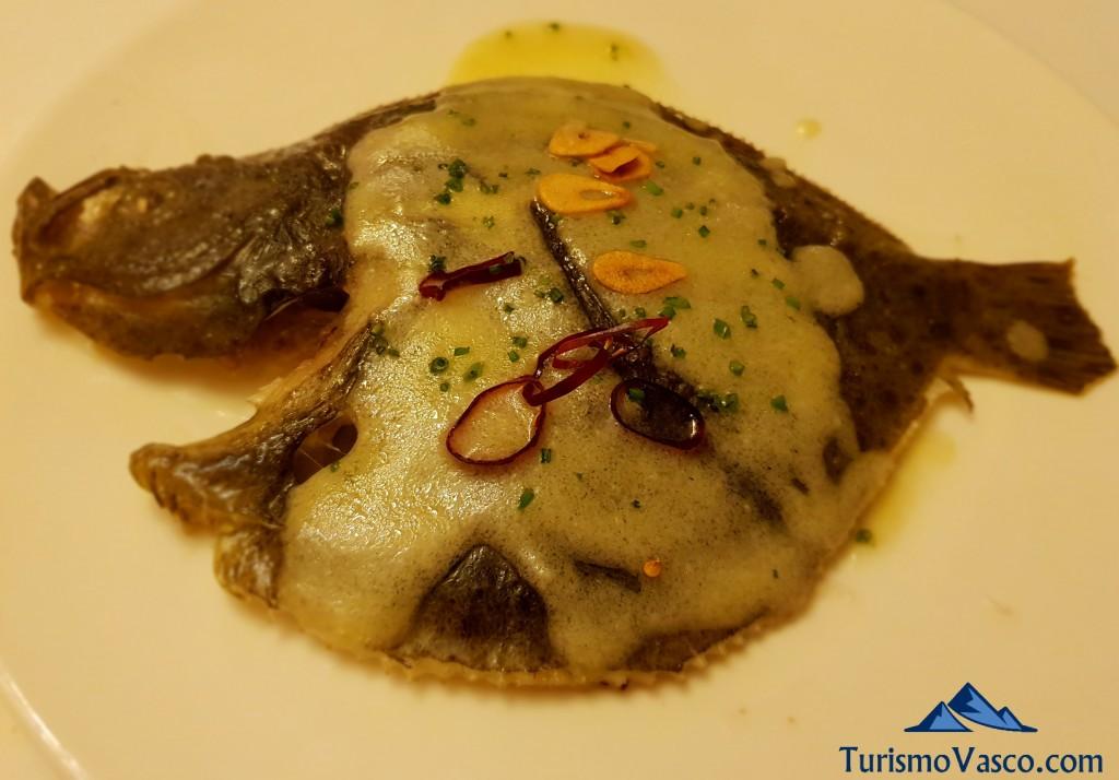 Rodaballo salvaje del restaurante Zanito en Olite Erriberri