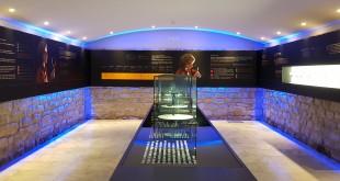 Sala del vino en el Museo de la Viña y el Vino de Navarra