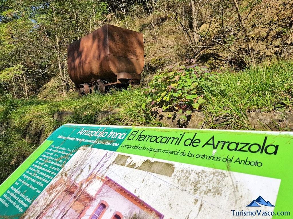 Vagoneta de mineral, Via verde de Arrazola (Axpe Atxondo)