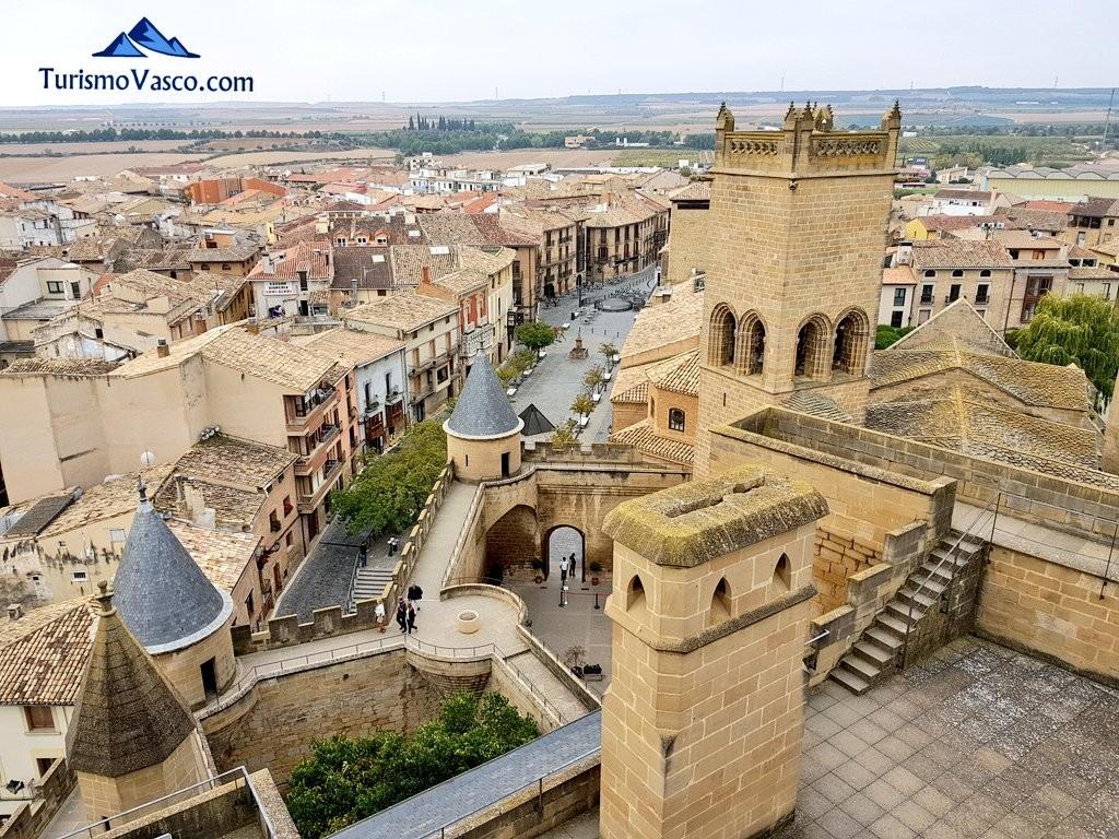 Vista desde la torre del palacio real de Olite Erriberri