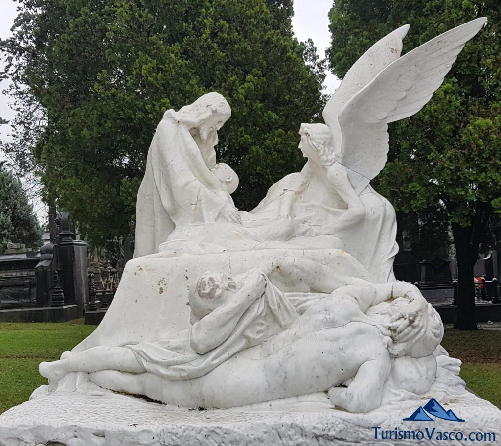Arte en el cementerio de Bilbao