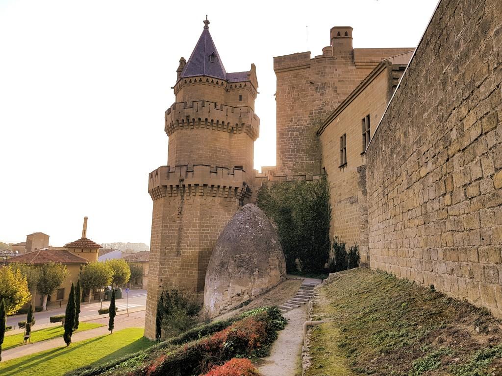 Muro este del castillo de Olite