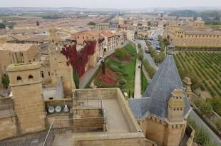 Parte trasera del castillo de Olite