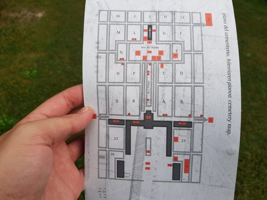 Plano del cementerio de Bilbao