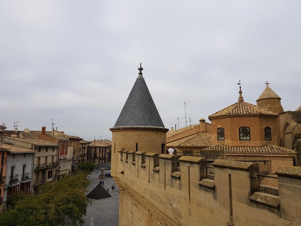 Plaza Carlos III desde el Castillo de Olite