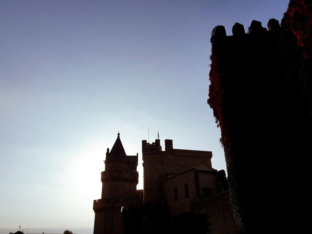 Silueta del Castillo de Olite