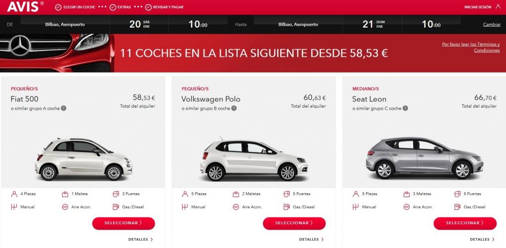 Avis, alquiler de coche en Euskadi