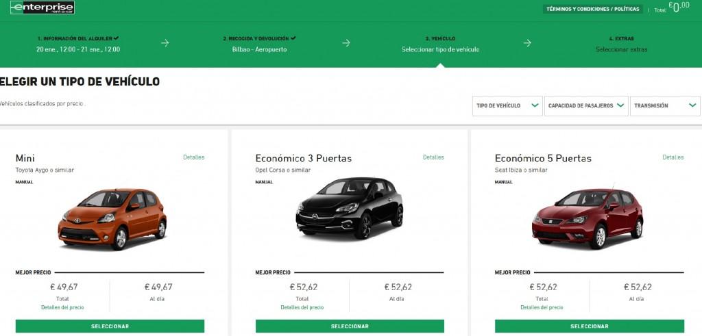 Enterprise, alquiler de coches en Euskadi
