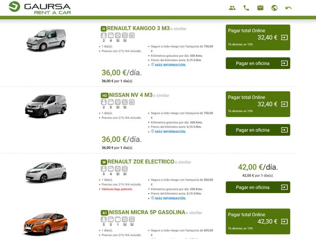 Gaursa rent a car, alquiler de coche en Euskadi
