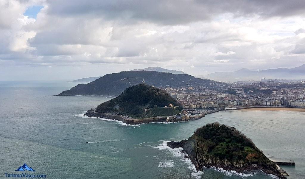 Vistas de Donostia desde Igeldo