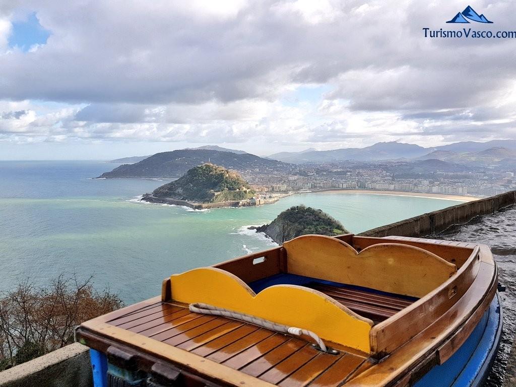Vistas desde las atracciones del Parque de atracciones del Monte Igeldo