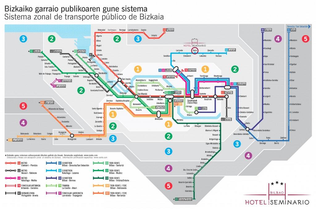 plano metro Bilbao