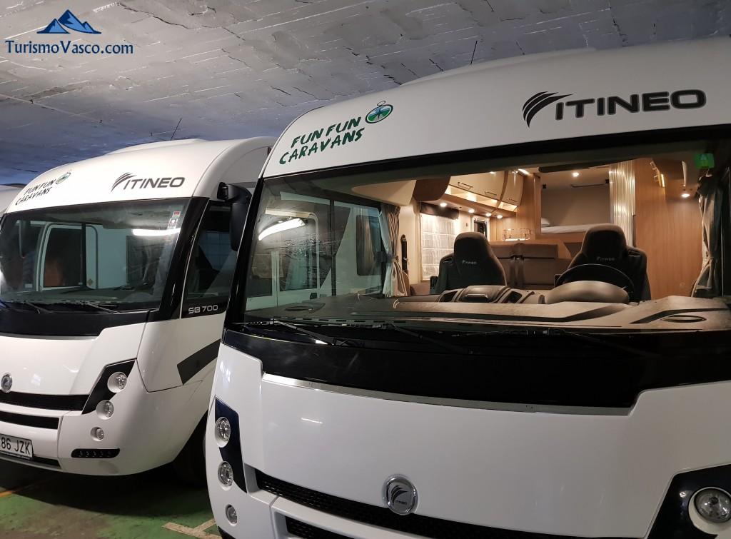 Alquiler de autocaravanas en euskadi con Fun Fun Caravans