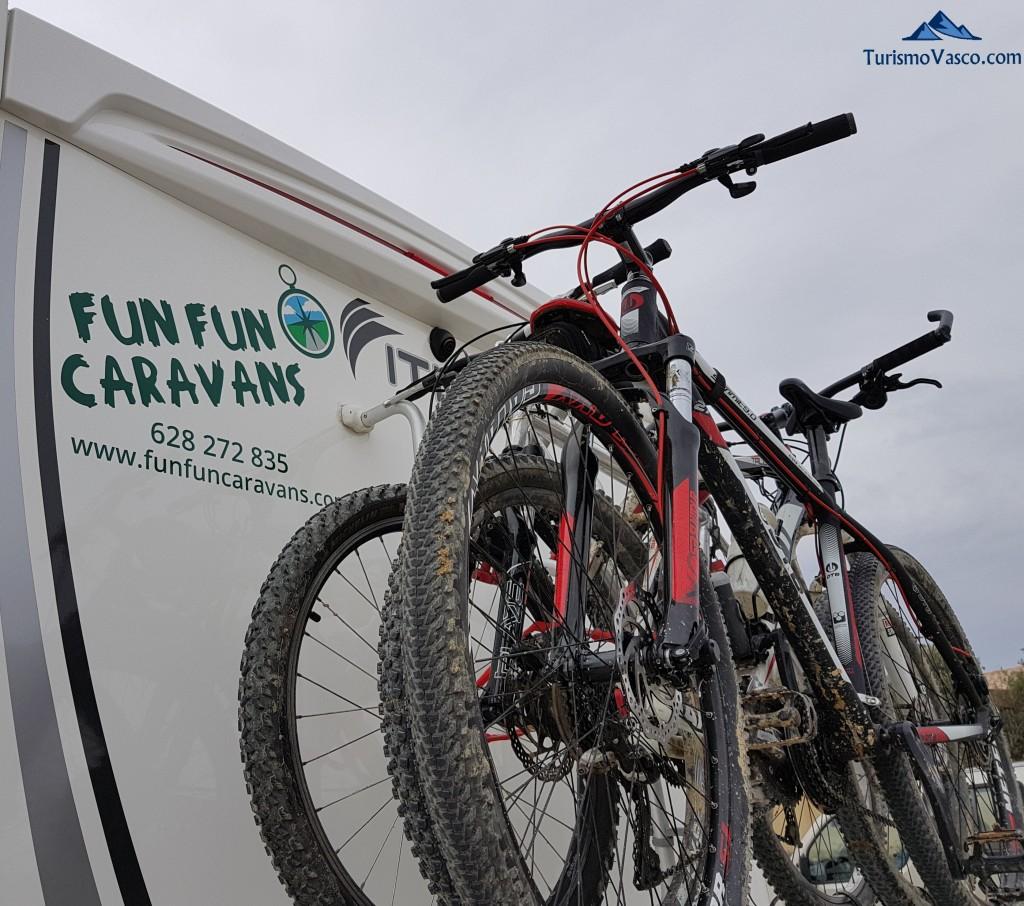 Alquiler de autocaravas en Euskadi, Bicicletas y portabicicletas Fun Fun Caravans