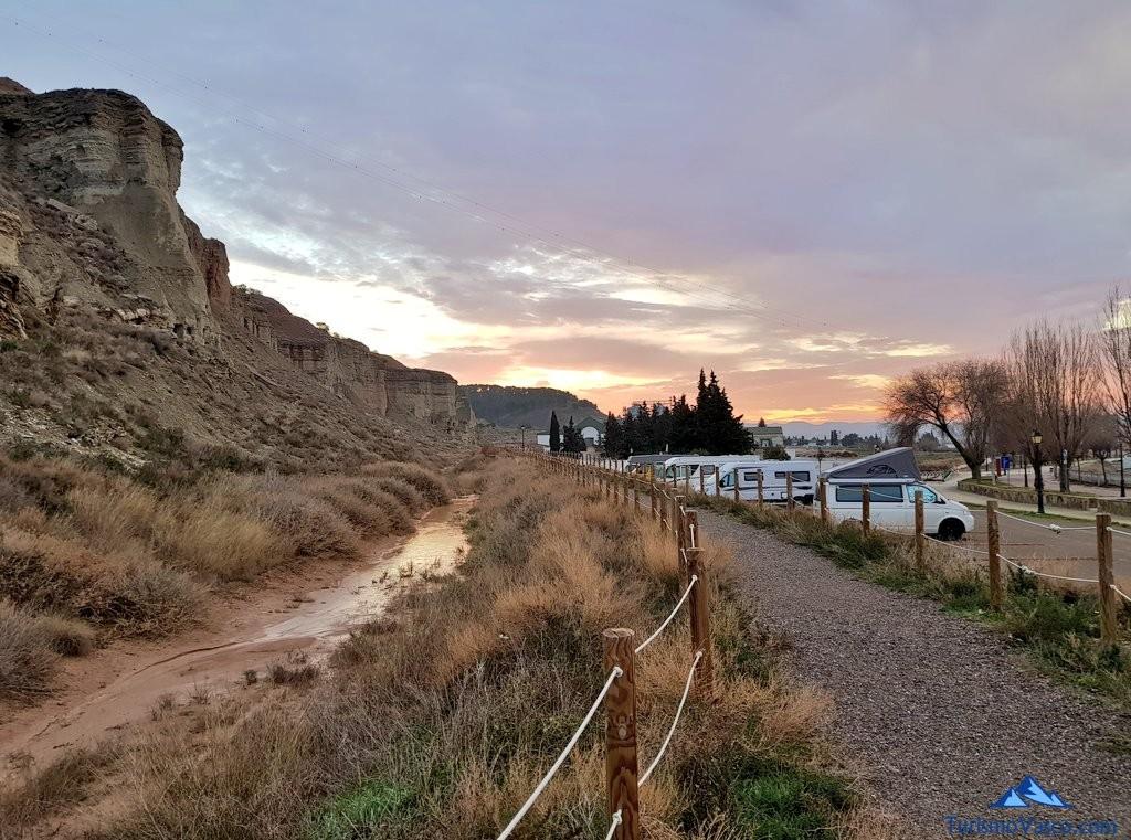 Area de autocaravanas de Arguedas, Navarra