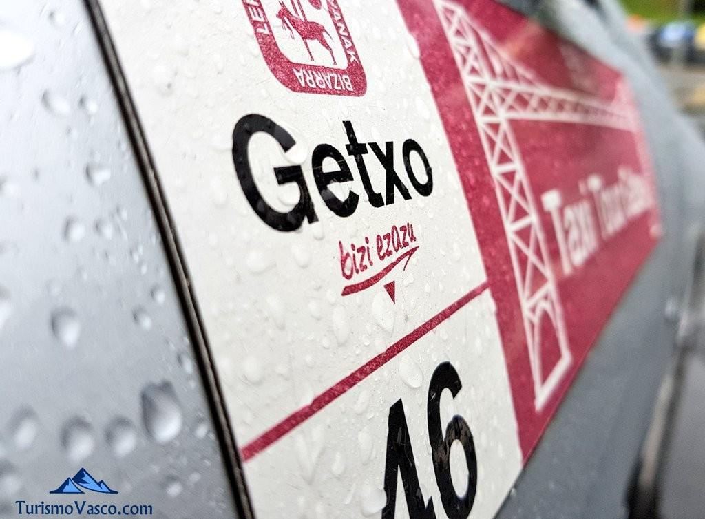 Cartel coche, Getxo Taxi Tour