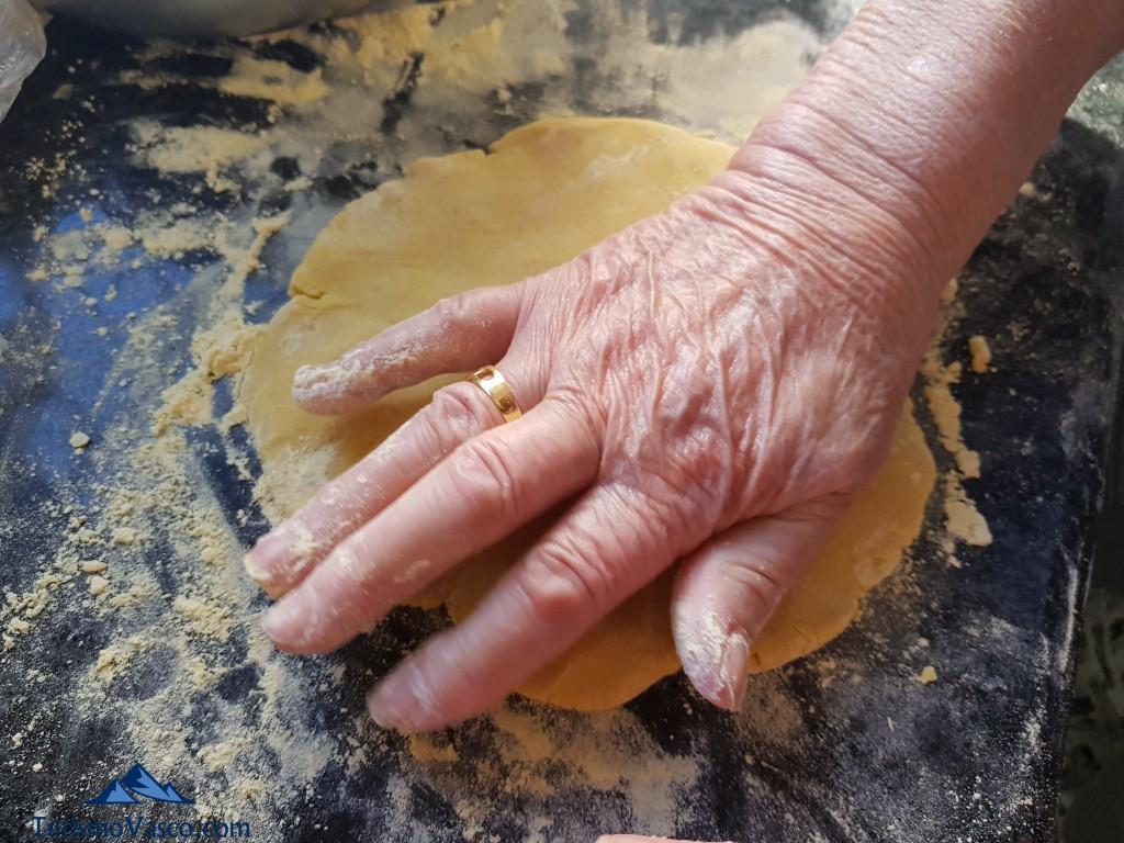 Golpeando el talo, receta de talo con chorizo