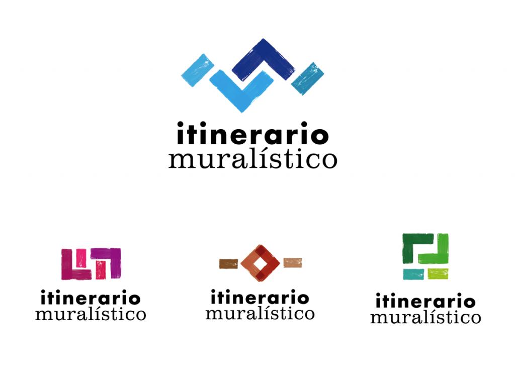 Logo del Itinerario muralistico de Vitoria Gasteiz, ruta de los murales