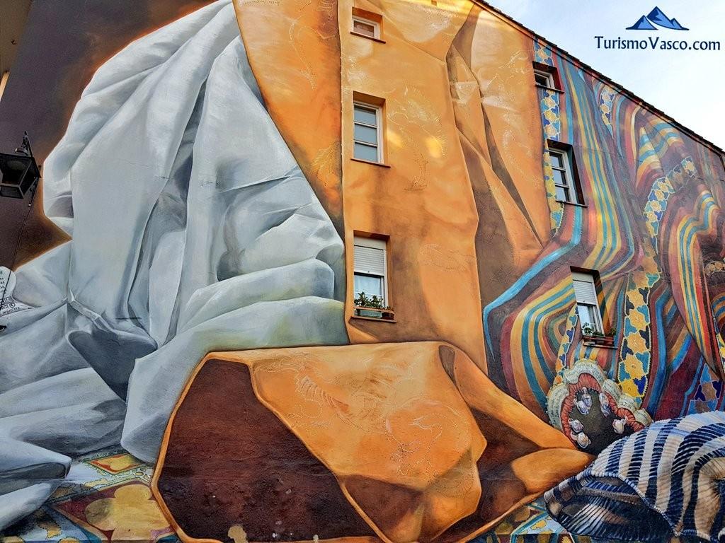 Ruta de los murales Al hilo del tiempo, número 1