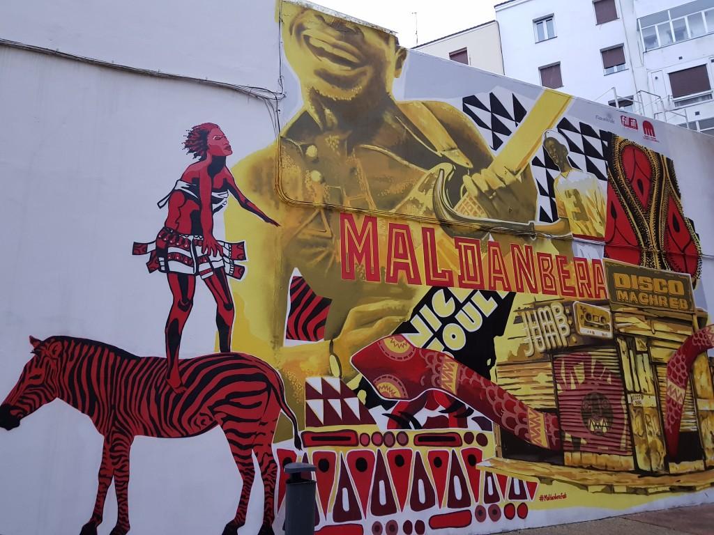 Mural Maldanbera en Vitoria Gasteiz