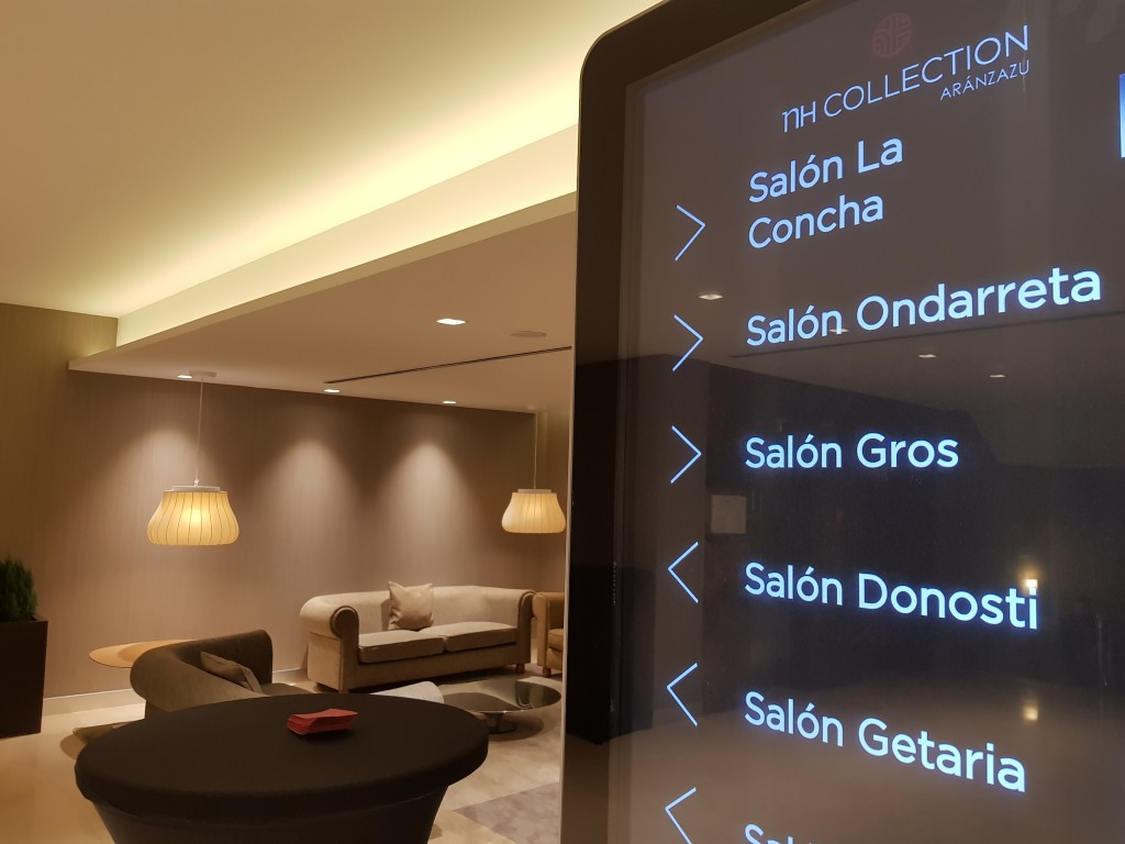 Panel informativo salones hotel Nh San Sebastián Aranzazu