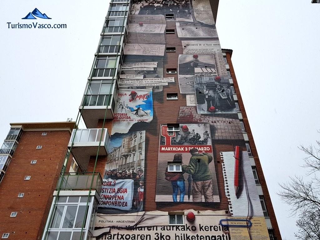 Ruta de los murales no hay presente ni futuro sin memoria