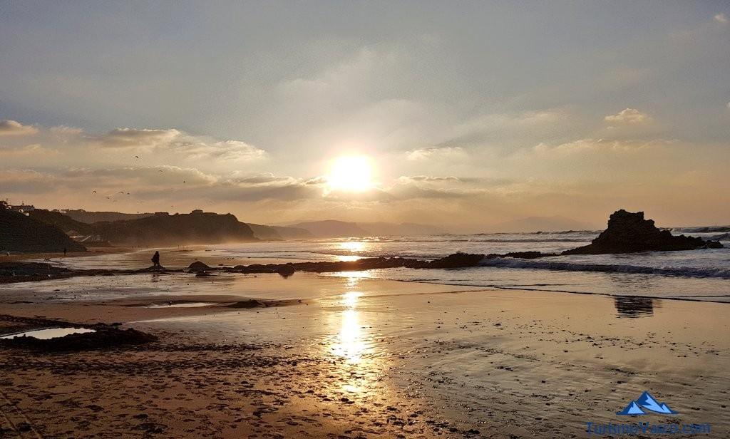 Atardecer desde la playa de Sopela