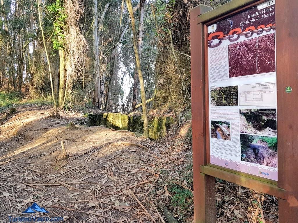 Primeros indicios del Cinturon de Hierro en Sopela y Berango
