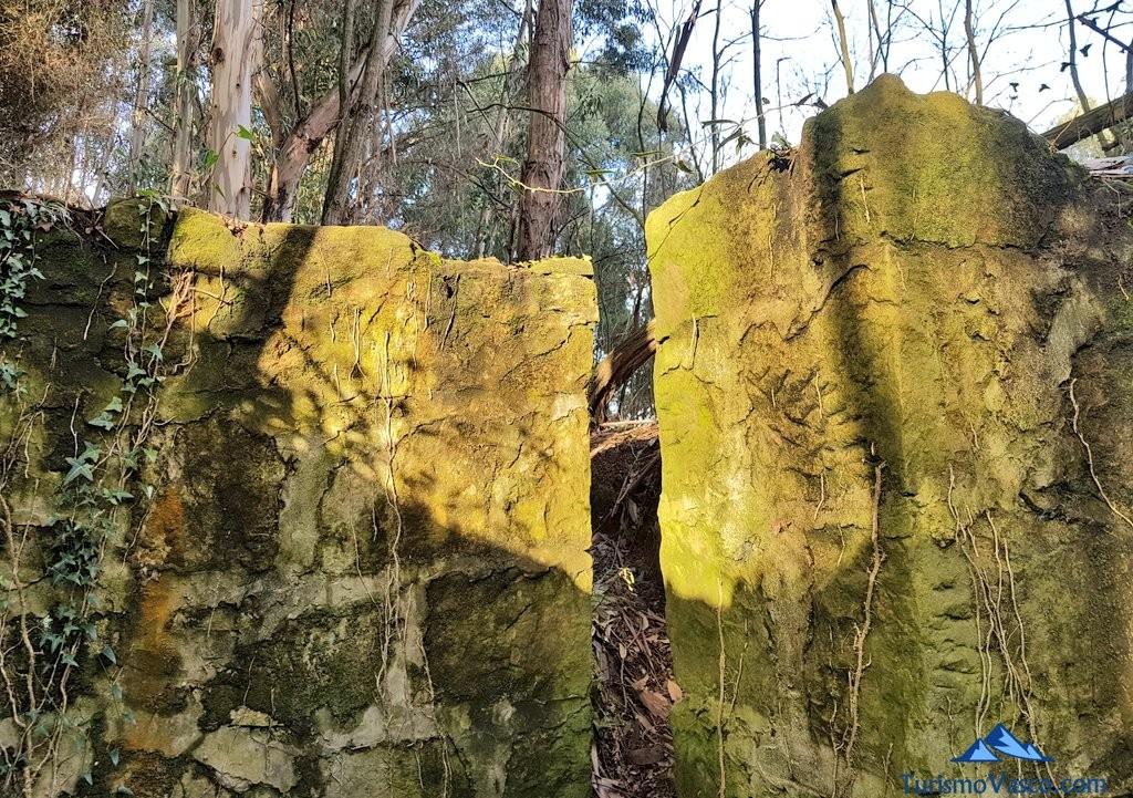 restos del Cinturon de Hierro en Sopela y Berango