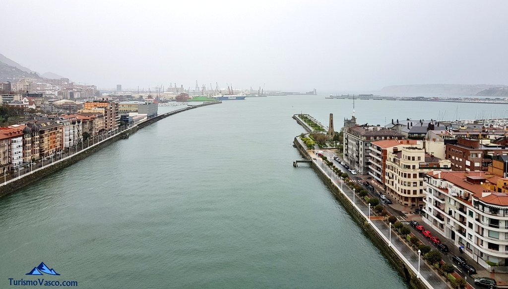 Bahía del Abra desde el Puente Bizkaia