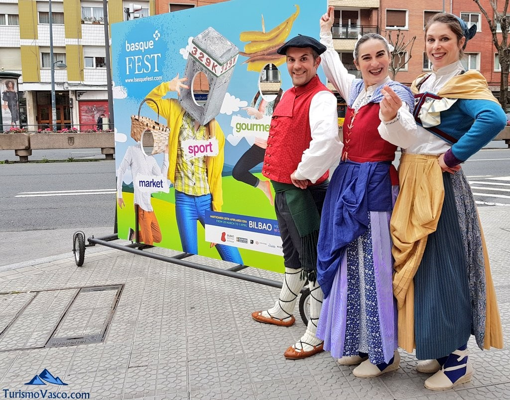 Basque fest, photocall ambulante