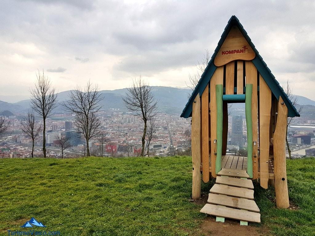 Planes con niños en Euskadi. Casa vistas Artxanda,Bilbao.