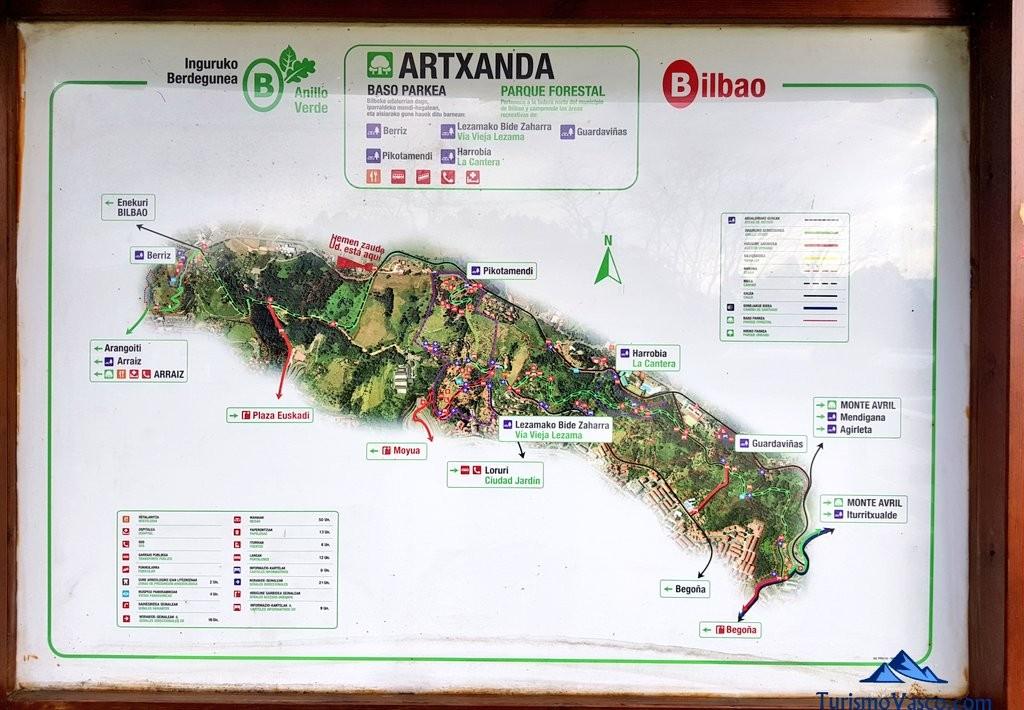Mapa de Artxanda