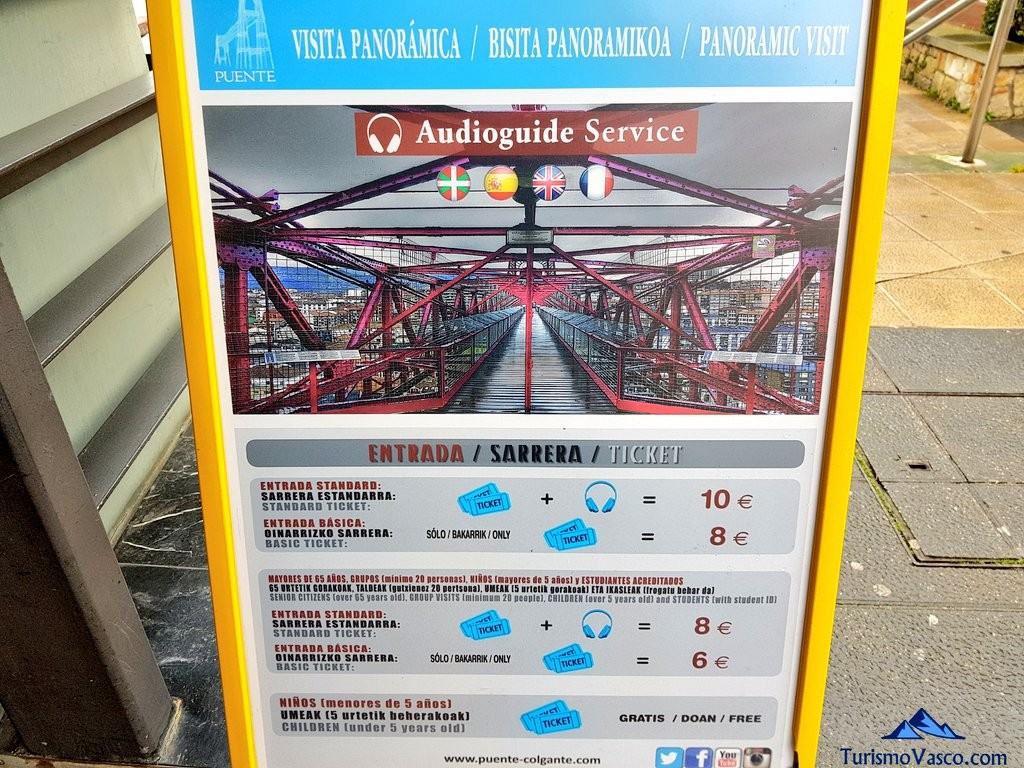 Precios del Puente Bizkaia