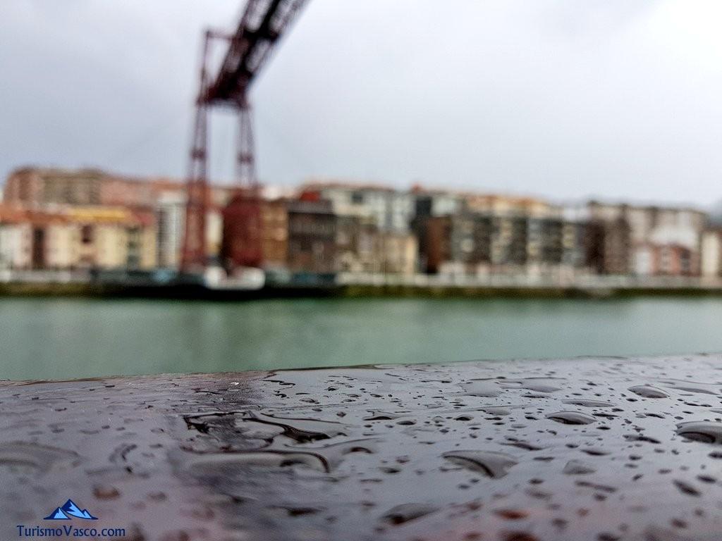 lluvia , Puente Bizkaia